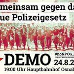 Gemeinsam gegen das neue Polizeigesetz